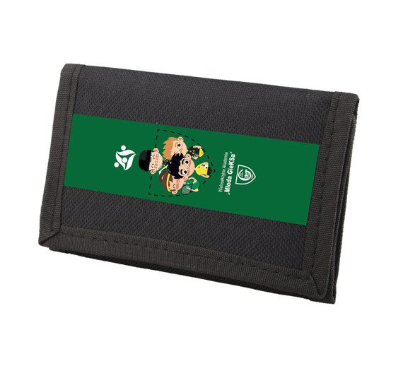 Wallet - multisection Academy - green stripe